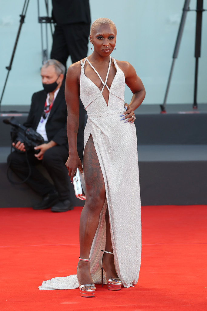 Cynthia Erivo Wore Tory Burch & Atelier Versace On The Opening Day Of The 2021 Venice Film Festival