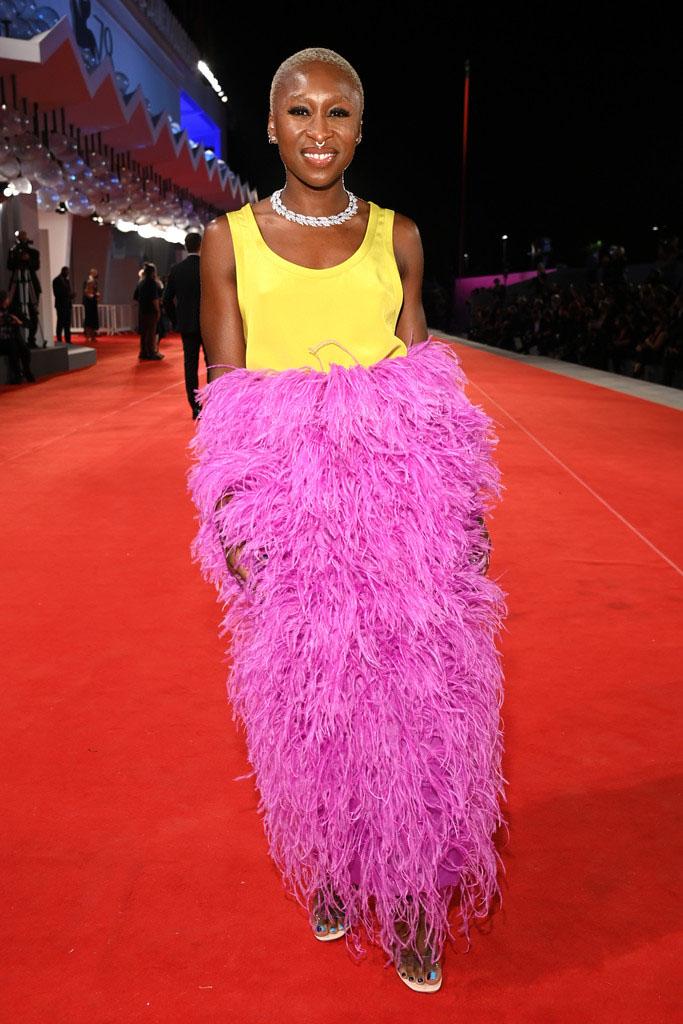 Cynthia Erivo Wore Valentino Haute Couture To The 'Last Night In Soho' Venice Film Festival Premiere