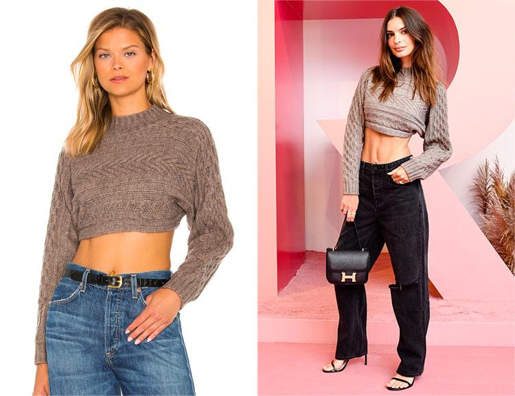 Emily Ratajkowski's superdown Sweater