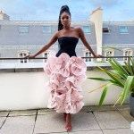 Gabrielle Union-Wade Wore Valentino Haute Couture For Her Wedding Anniversary Dinner