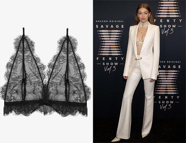 Gigi Hadid's Annie Bing Delicate Lace Bra