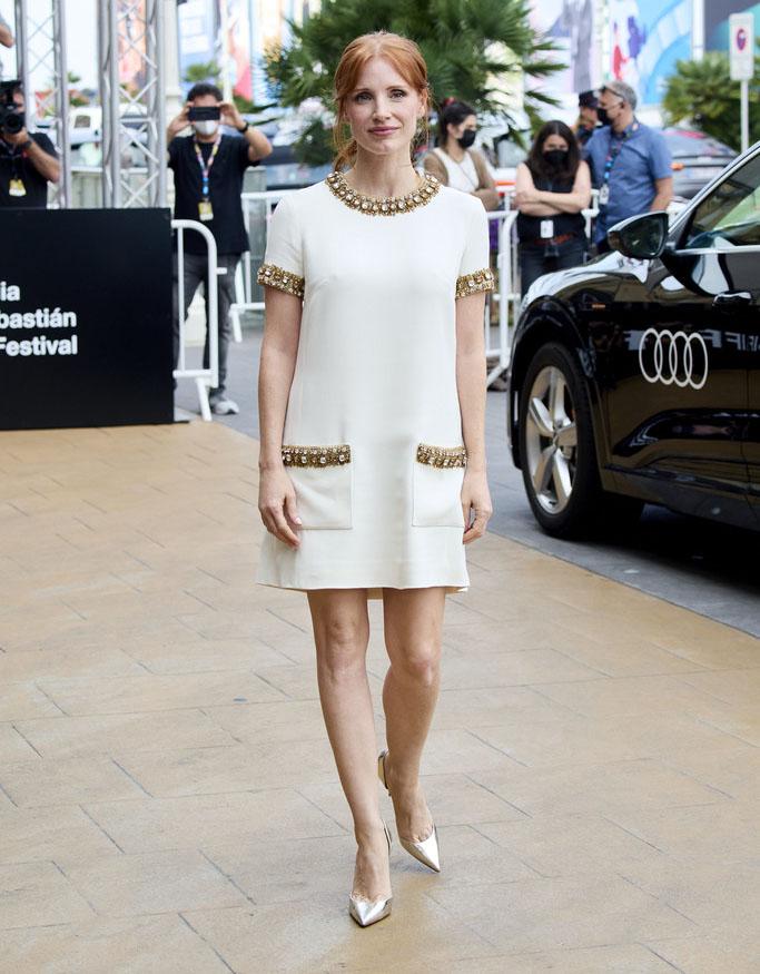 Jessica Chastain Wore Zuhair Murad During The 2021 San Sebastian Film Festival