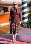 Kirsten Dunst Wore Salvatore Ferragamo Arriving For Venice Film Festival