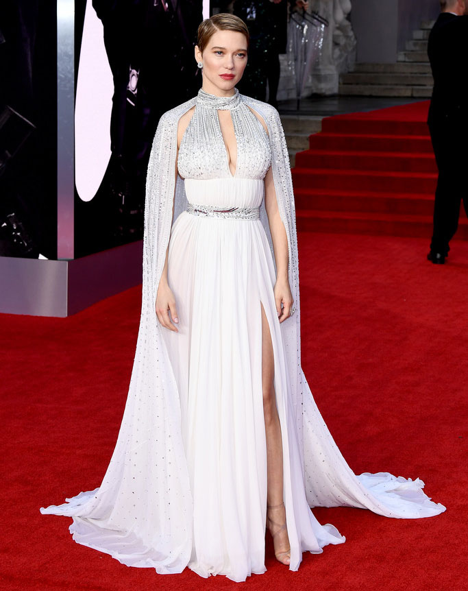 Léa Seydoux Wore Louis Vuitton To The 'No Time To Die' World Premiere