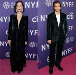 Maggie & Jake Gyllenhaal Twin In Velvet For 'The Lost Daughter' New York Film Festival Premiere