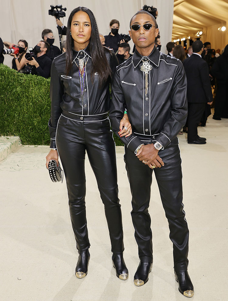 Pharrell and Helen Williams in Chanel - 2021 Met Gala