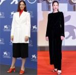 Ruth Wilson Wore Nina Ricci & Giorgio Armani For The 'True Things' Photocall & 'Mona Lisa And The Blood Moon' Venice Film Festival Premiere