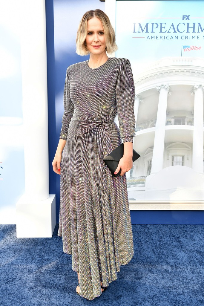 Sarah Paulson Wore Alexandre Vauthier Haute Couture For The 'Impeachment: American Crime Story' LA Premiere