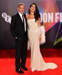 Amal Clooney Wore 16Arlington To 'The Tender Bar' London Film Festival Premiere