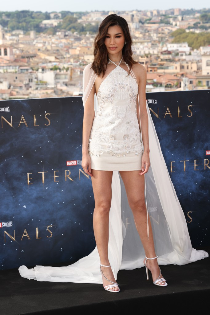 Gemma Chan Wore Valentino To The 'Eternals' Rome Film Festival Photocall