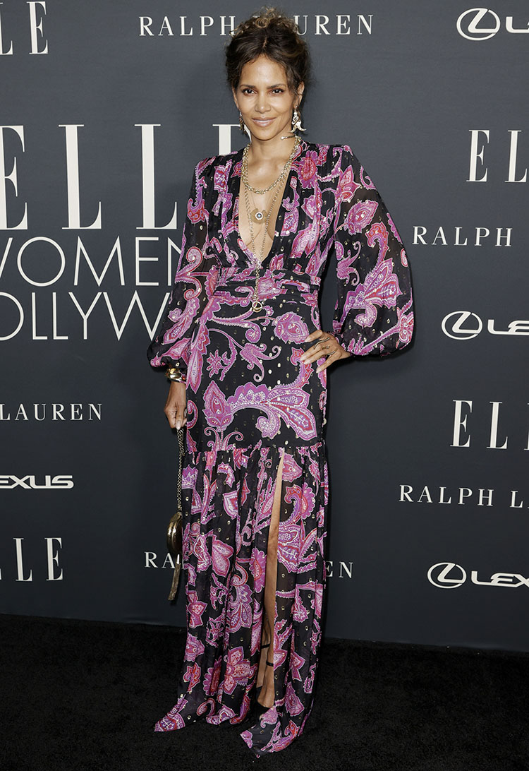 Halle Berry Wore Dundas x Revolve To ELLE's Women In Hollywood Celebration