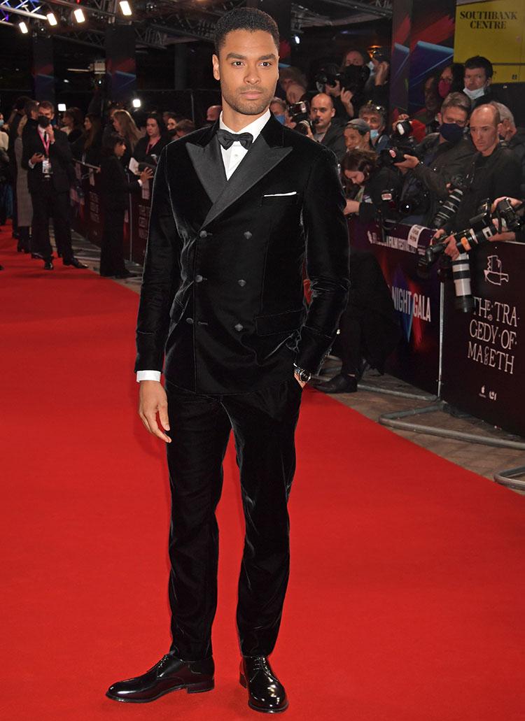 Regé-Jean Page Wore Giorgio Armani To 'The Tragedy Of Macbeth' London Film Festival Premiere