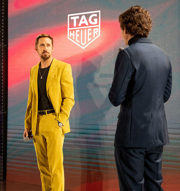 Ryan Gosling Wore Dzojchen While Being Unveiled As The New TAG Heuer  Ambassador