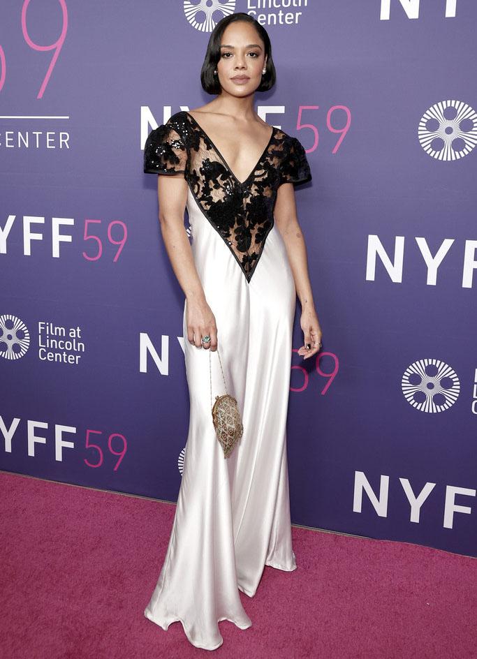 Tessa Thompson Wore Rodarte To The 'Passing' New York Film Festival Premiere