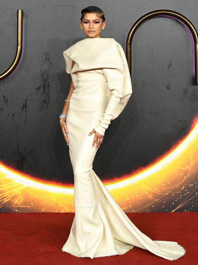 Zendaya Wore Rick Owens To The 'Dune' London Premiere