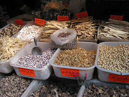 Chinese Dry Goods on Sidewalk