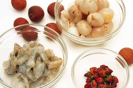 Lychees, Shrimp and Rosebuds