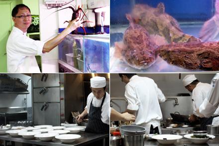 Majestic Restaurant Kitchen Collage