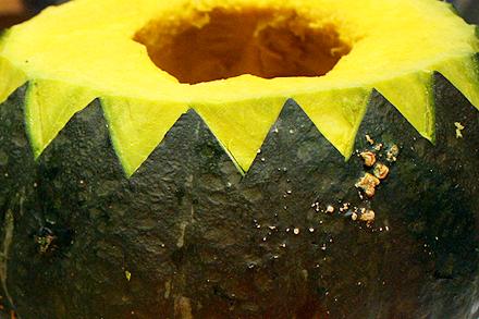 Carved Pumpkin Bowl