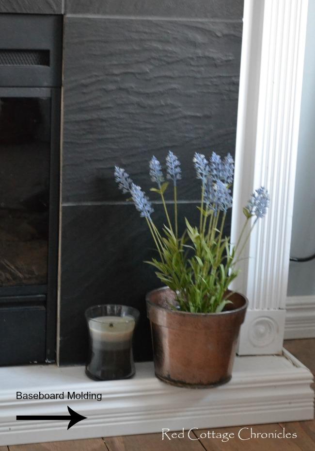 fireplace baseboard molding