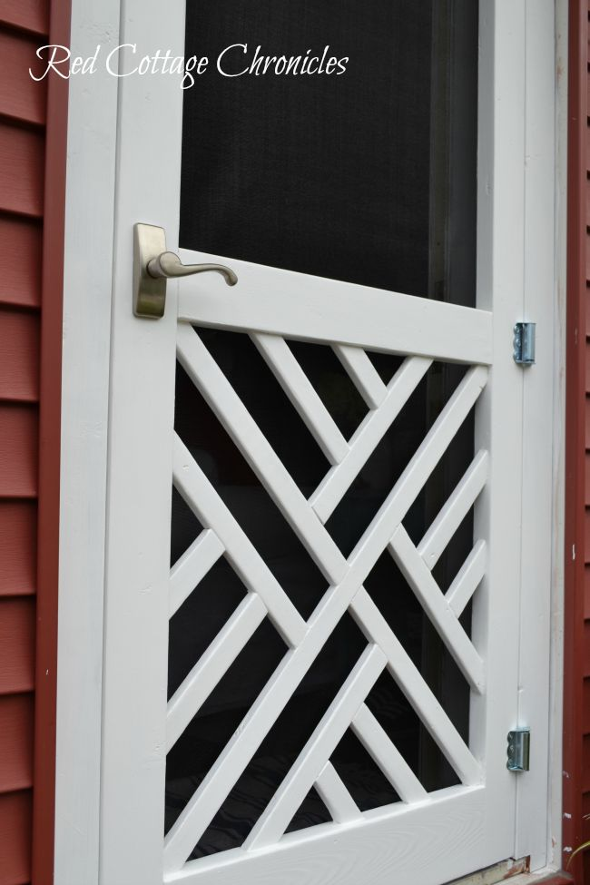 Perfect DIY Wood Screen Door Tutorial - Red Cottage Chronicles HK07