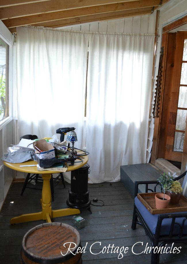 screen porch styling