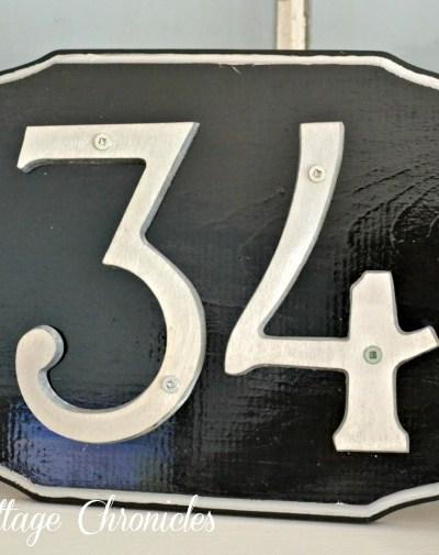 Faux Cast Iron Address Plaque