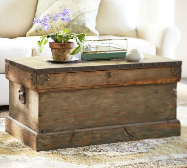 Lift Top Coffee Table Hardware Canada: DIY Pottery Barn Inspired Storage Trunk