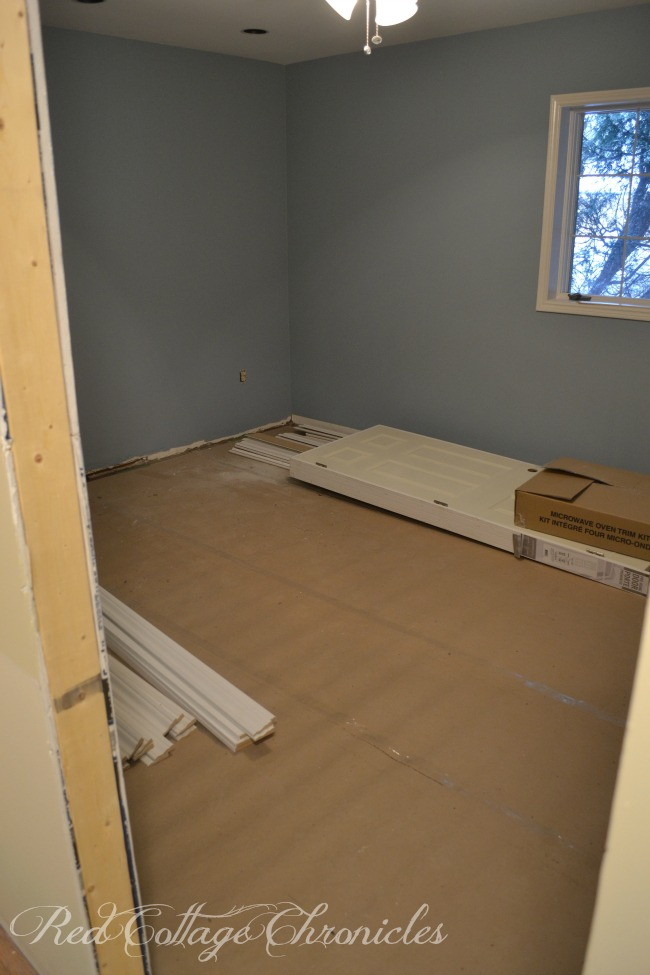 Spare bedroom after