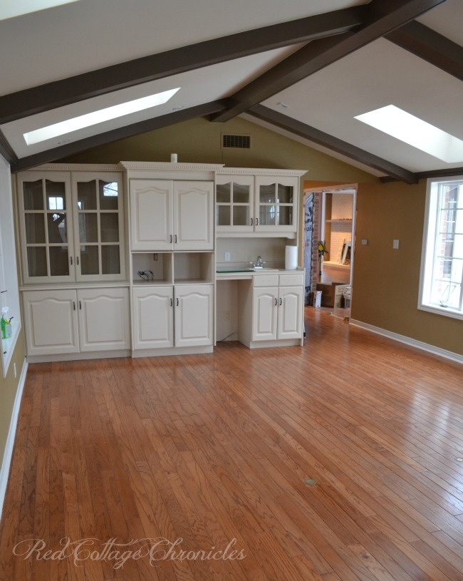 A coat of pain transforms some dated cabinets