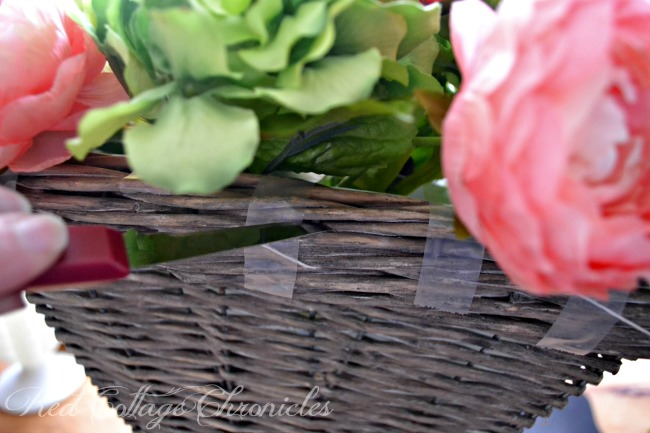 Try a flower basket instead of a spring wreath on your front door