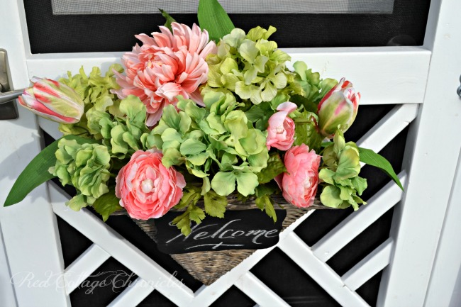 Best of Red Cottage Chronicles How to make a flower basket for your front door
