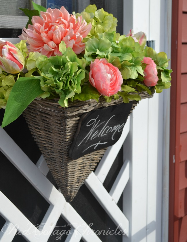 How To Make A Flower Basket Instead Of A Spring Wreath For Your Front Door