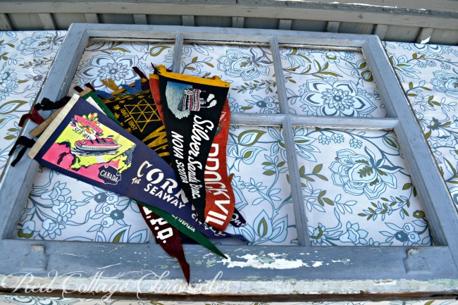 Thrift Store Decor Upcycle Challenge - Vintage Pennants