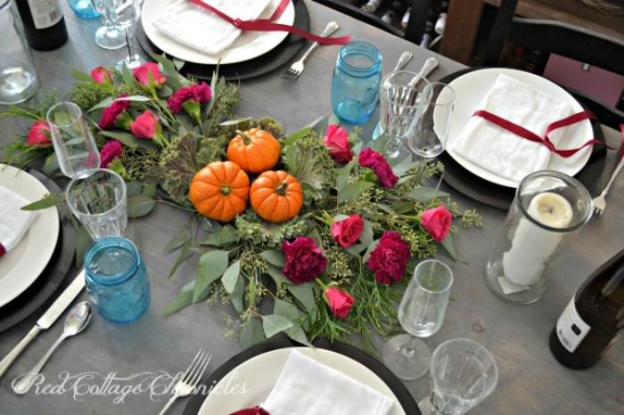 autumn tablesape - table setting essentials