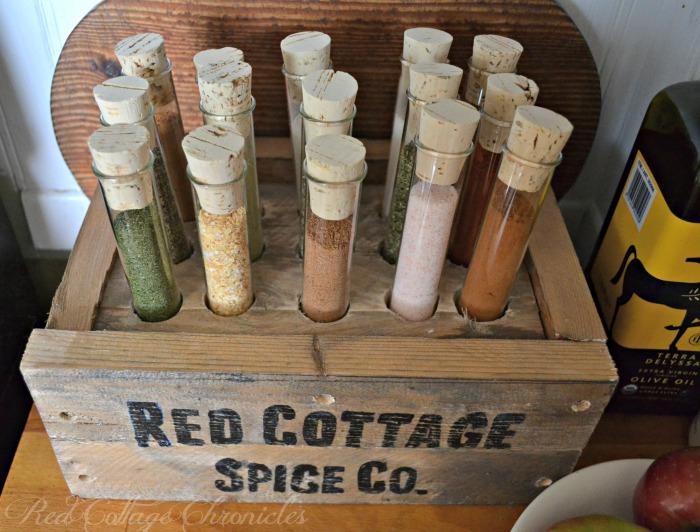 test tube pallet spice rack