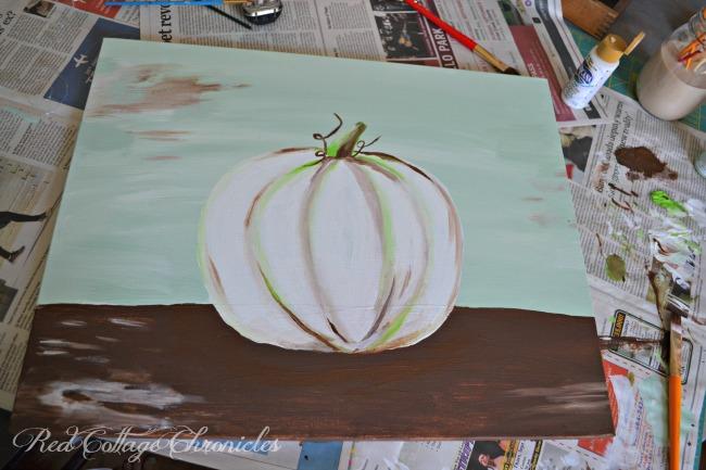 easy autumn crafts pumpkin painting
