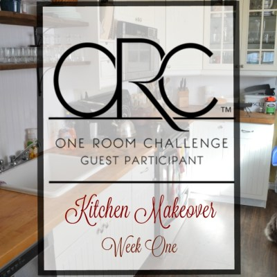 One Room Challenge Kitchen Edition