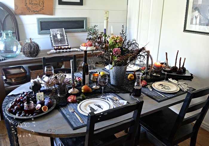 Dark Halloween Tablescape Ideas