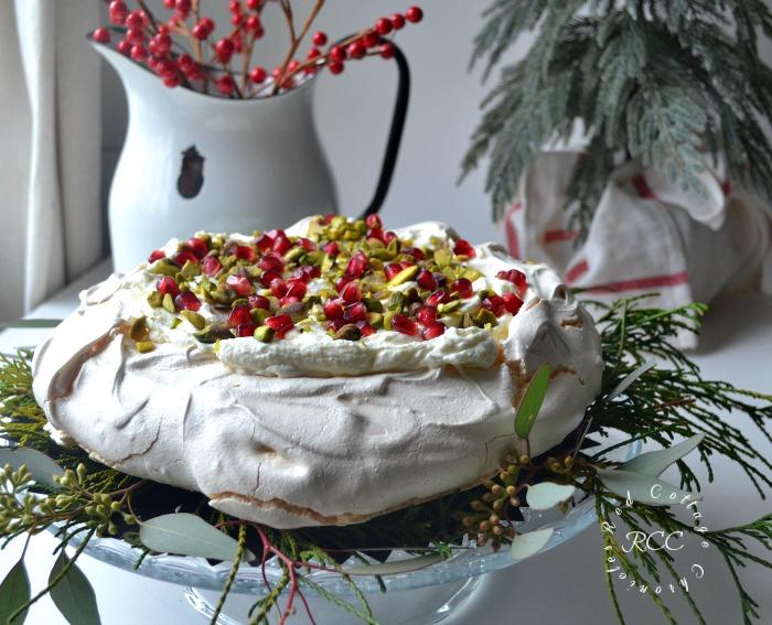#Choctoberfest Chocoate Recipes - White Chocolate Pistachio Pavlova