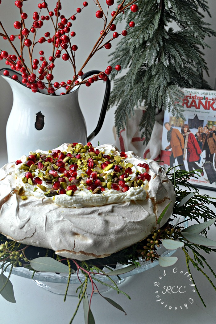 Christmas Movie Blog Hop White Chocolate Pistachio Pavlova