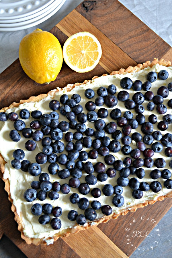 A review of one of Joanna Gaines recipes for Blueberry Mascarpone Tart