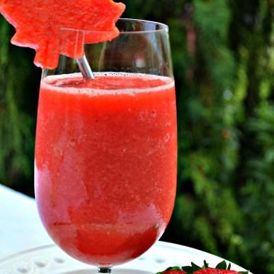 Strawberry Watermelon White Wine Slushy