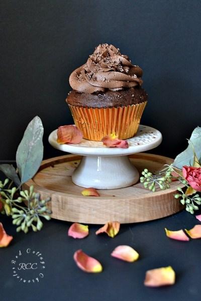 Triple Chocolate Cupcakes #Choctoberfest