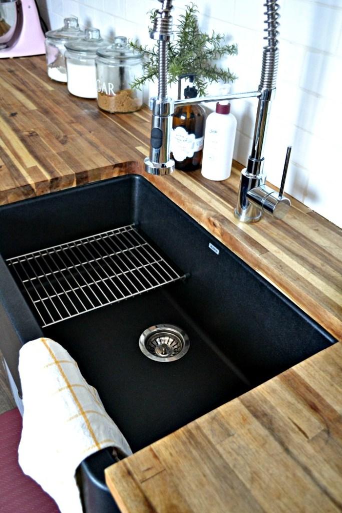 Black Farmhouse Sink