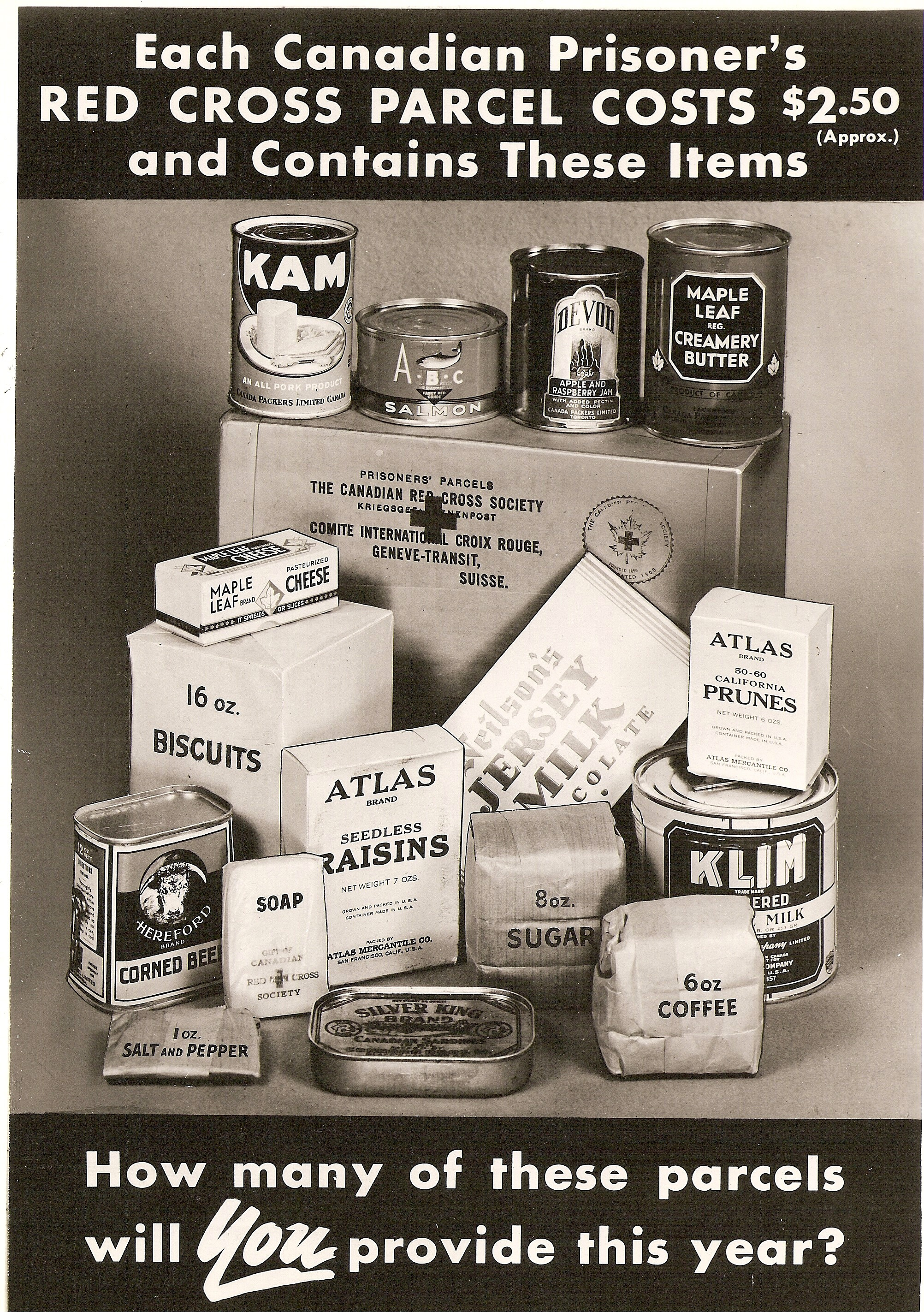 Image result for red cross pow parcels