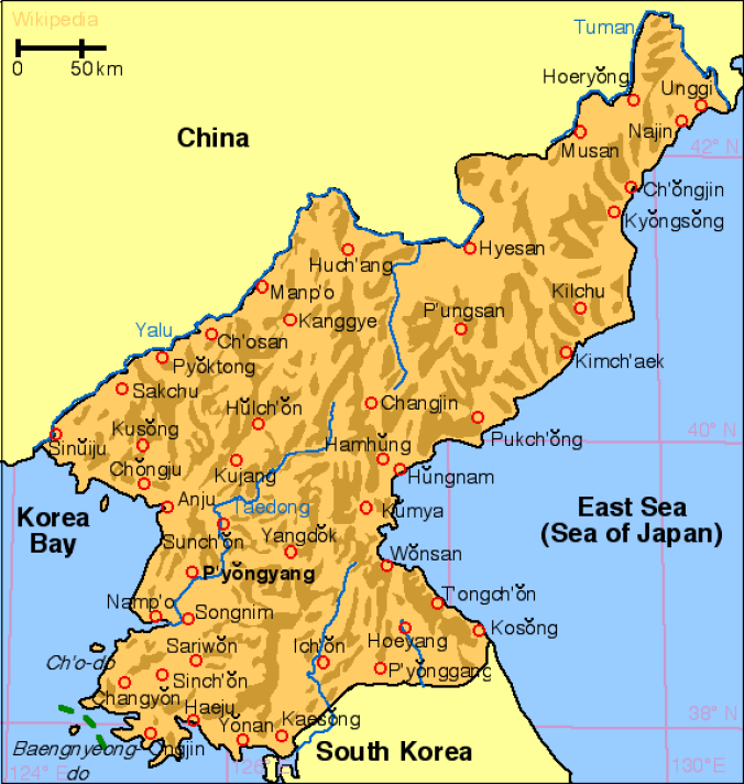 korea_north_map
