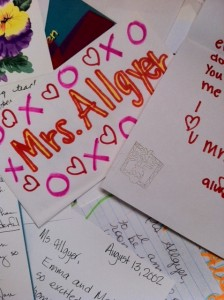 Love letters from parents and students