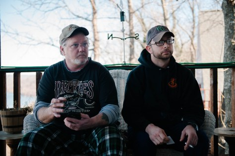 Sonny Hopkins and Casey Hardion, sharing their stories on that beautiful porch.