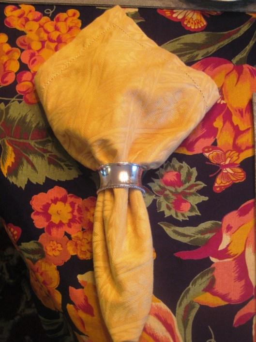 napkin against tablecloth